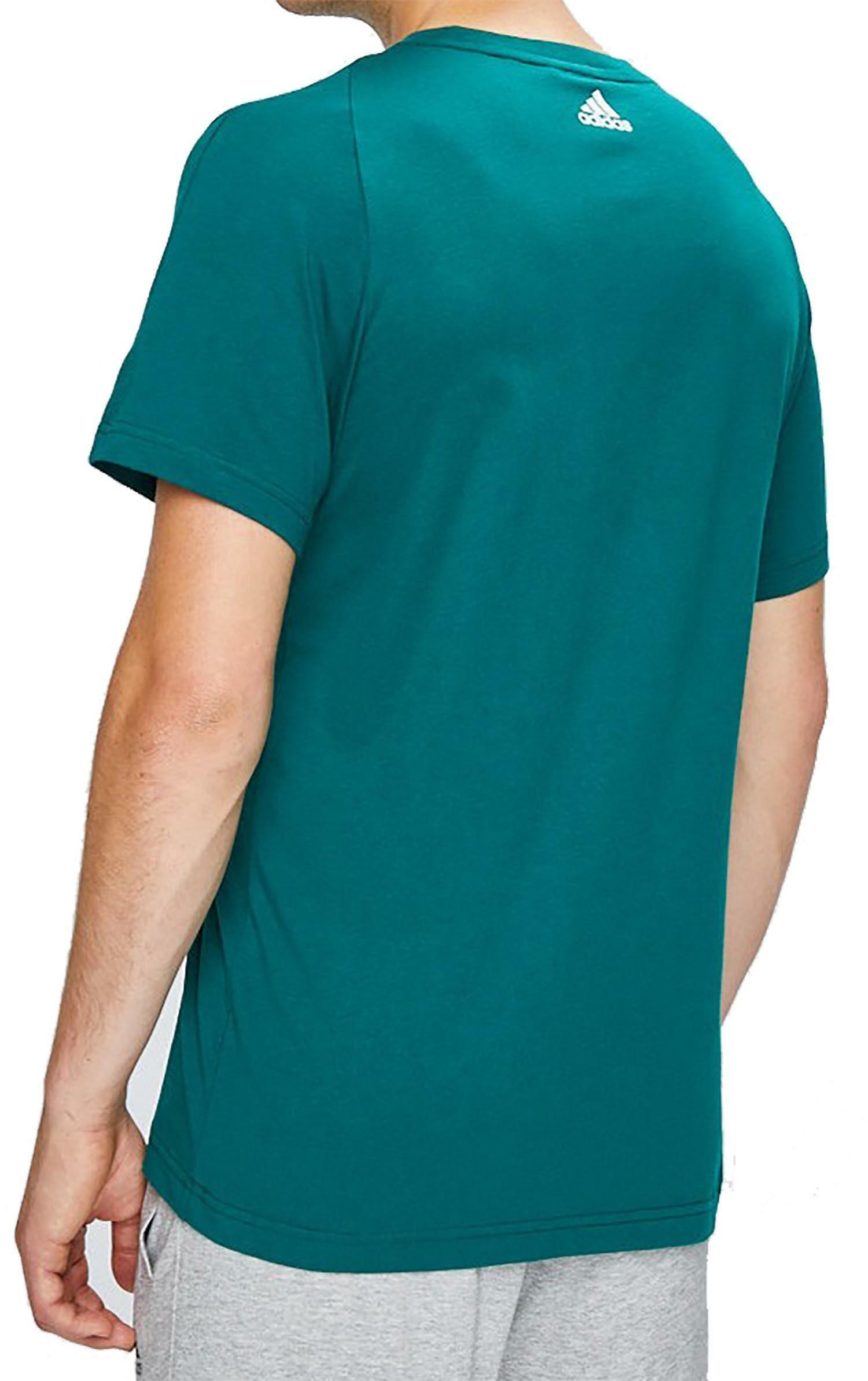 adidas adidas ess linear tee t-shirt uomo verde cz7513