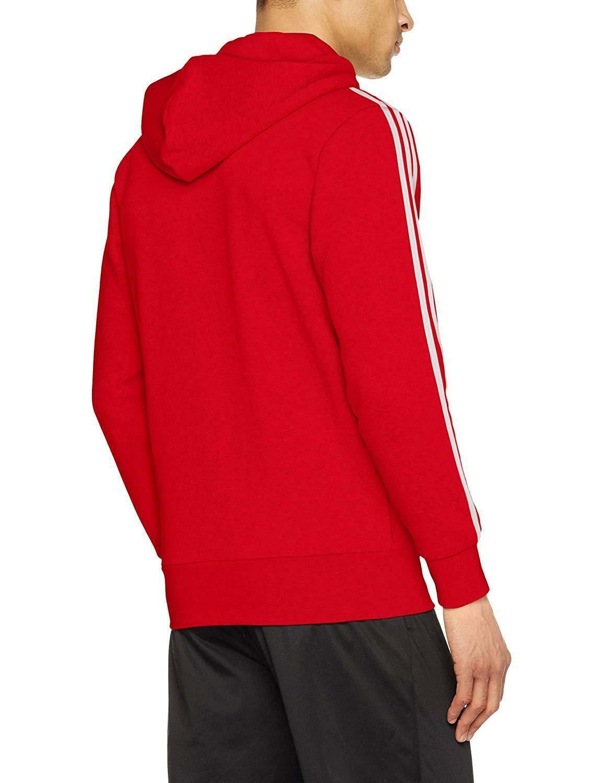 felpa uomo rossa con cappuccio adidas