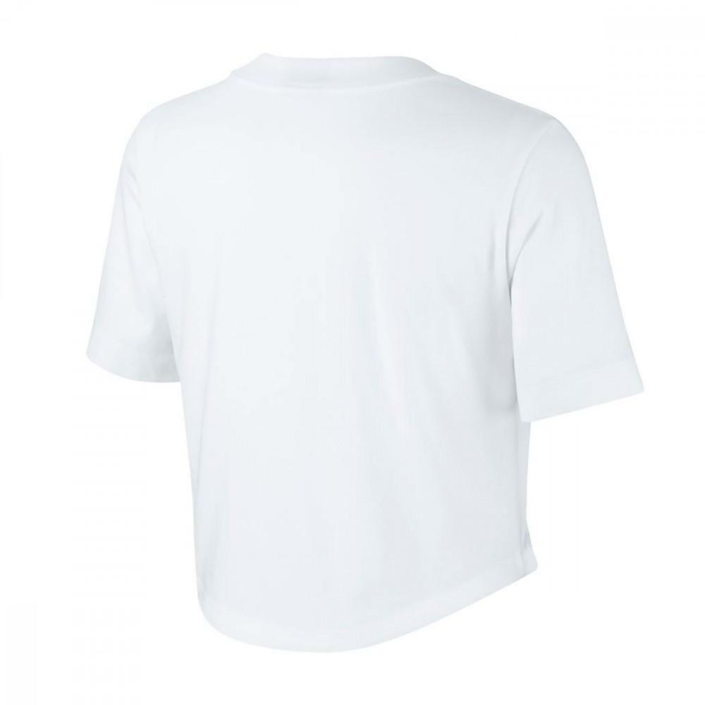 nike nike nsw crop t-shirt donna bianca aj3765100