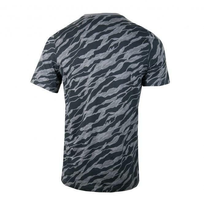 adidas adidas essential aop t-shirt uomo grigia dn8629
