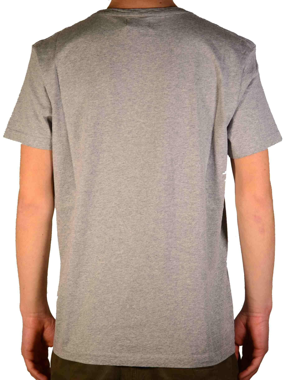 converse converse ss crew logo modern t-shirt uomo grigia