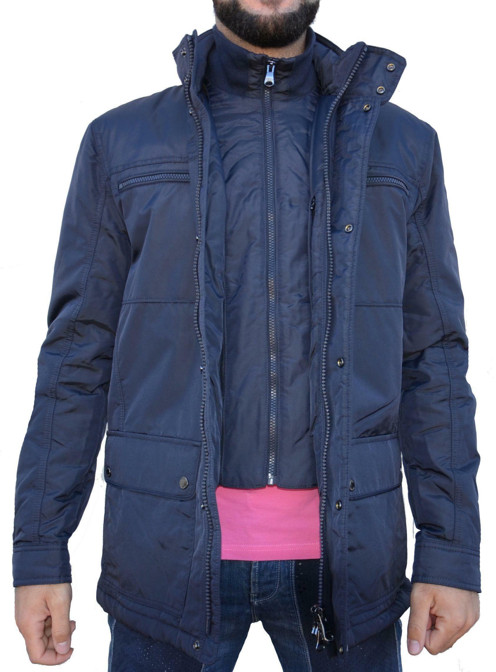 geox man jacket navy giubbotto uomo blu scuro