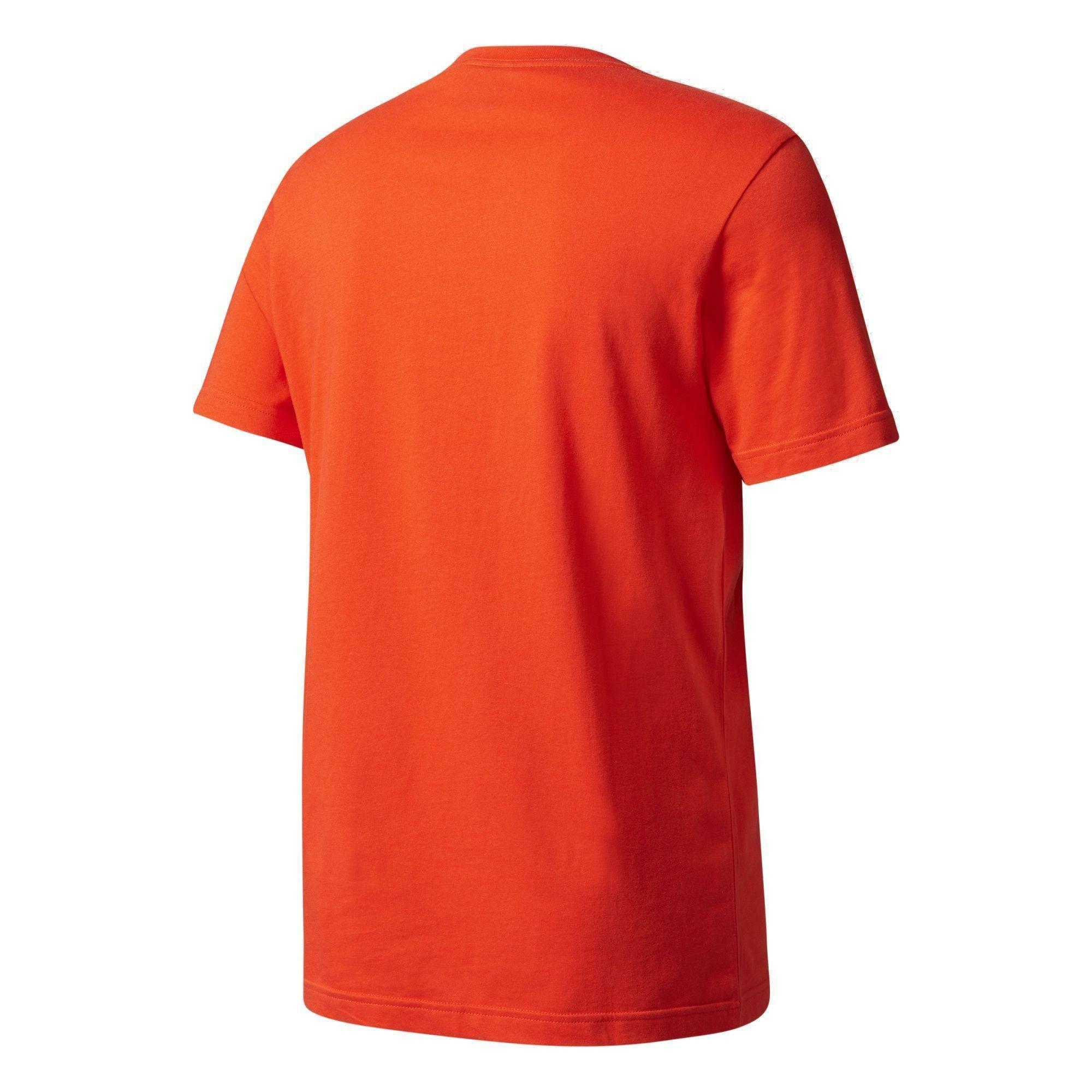 adidas adidas originals trefoil t-shirt uomo rossa bk7167