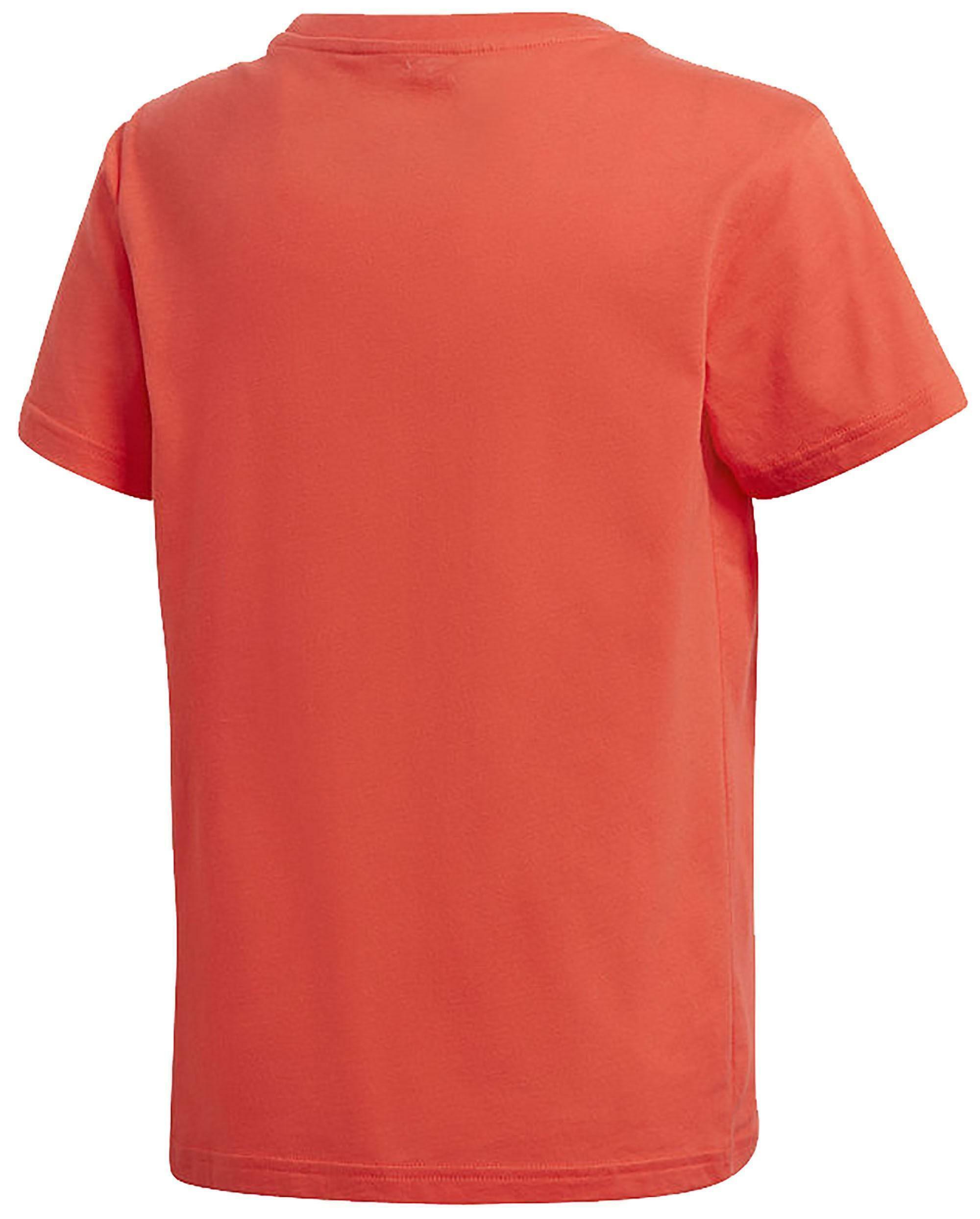 adidas originals adidas j trf t-shirt bambino/a rossa dh2474