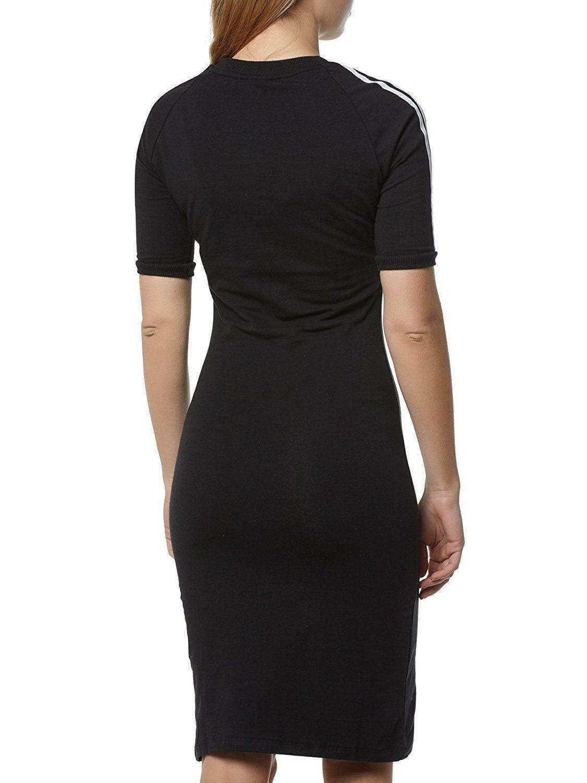 adidas adidas 3 stripes dress vestito donna nero cy4748
