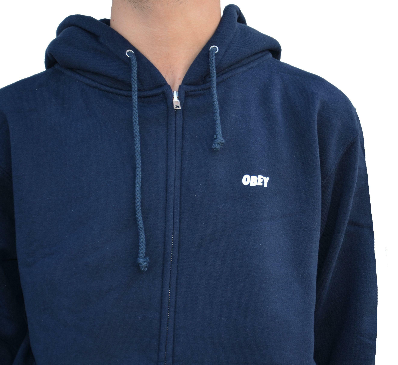obey obey the creeper basic giacchetto uomo blu
