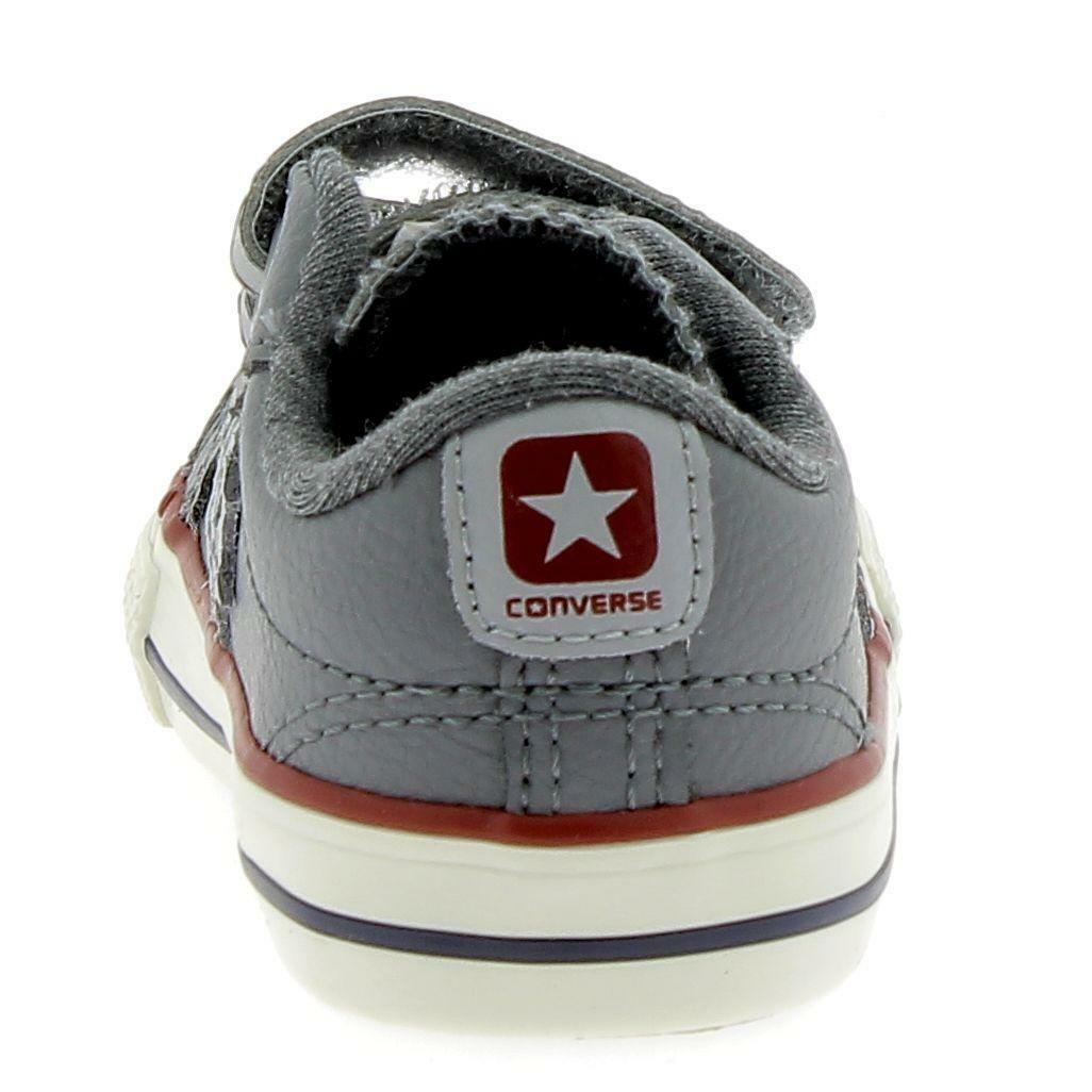 converse converse star player ev 2v scarpe sportive bambino grigie pelle strappi