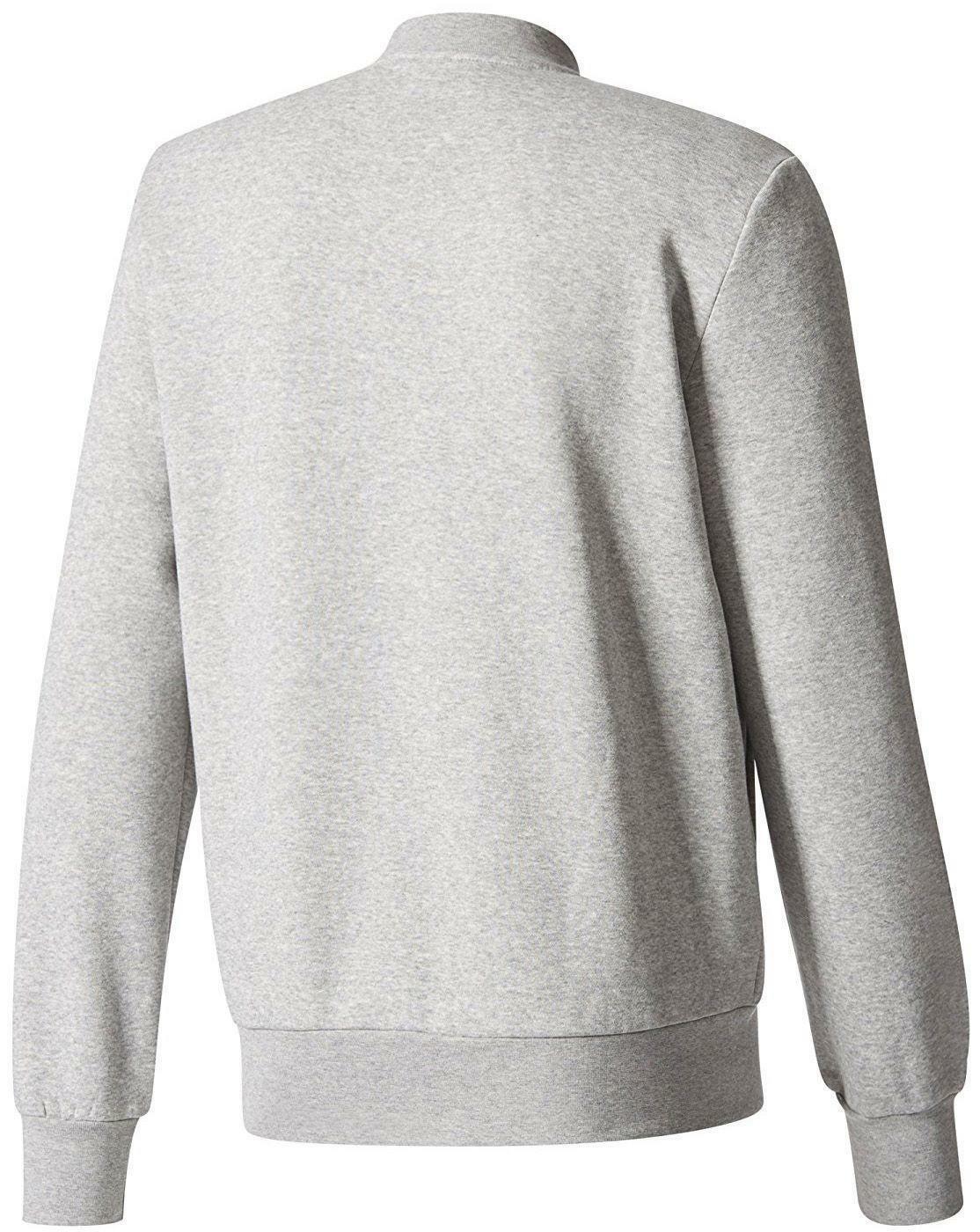 adidas bomber giacchetto zip felpato uomo grigio bs2216