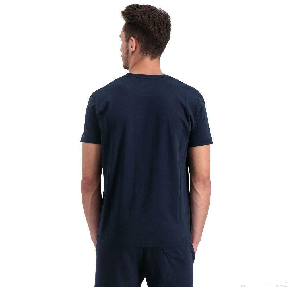 converse converse logo modern t-shirt uomo blu