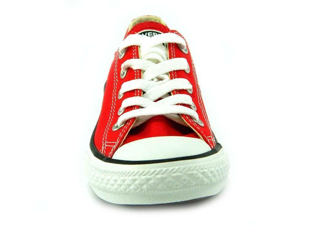 converse all star ct scarpa sneakers rossa red bassa low junior 3j236c