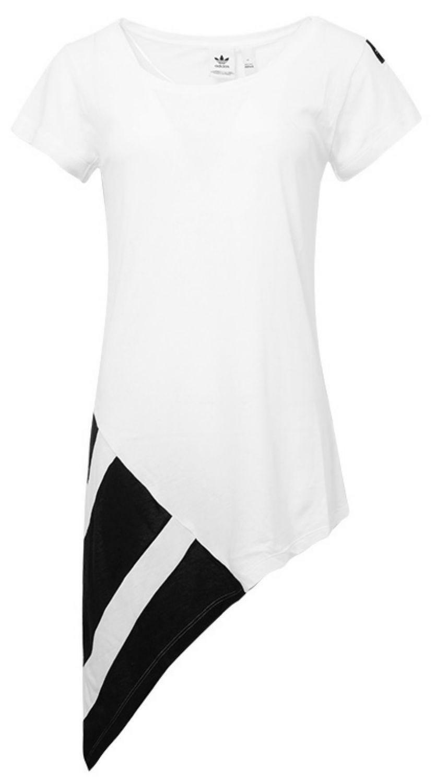 adidas adidas eqt block tee t-shirt donna bianca