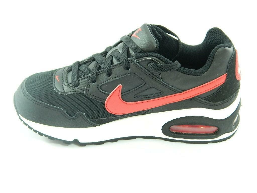 Dettagli su Nike Air Max Skyline TD scarpe sportive nere rosse bambino bambina