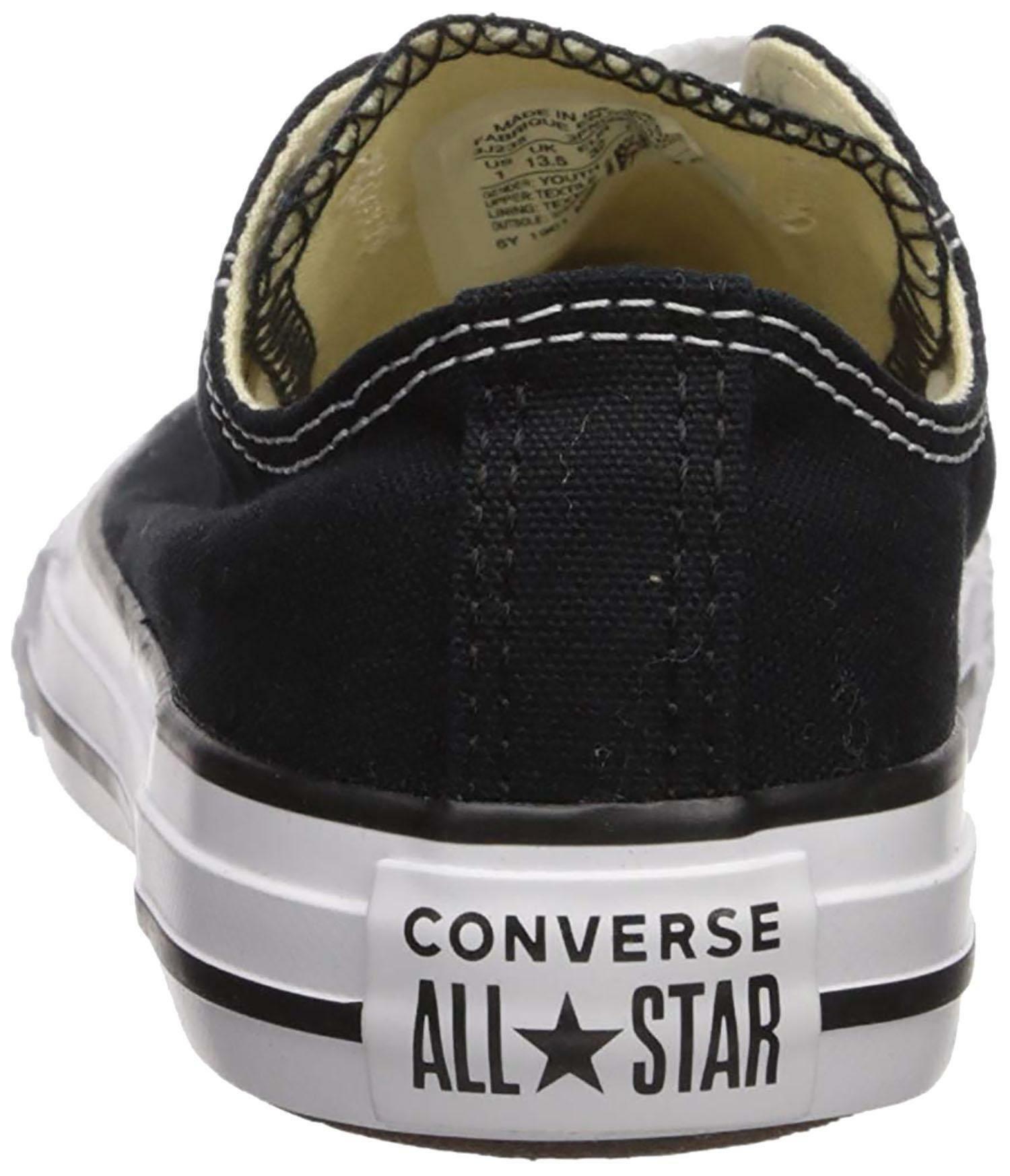 converse converse all star ct scarpe sneakers nere black basse low junior donna