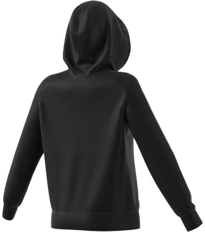 adidas adidas trf logo hoodie felpa donna cappuccio nera