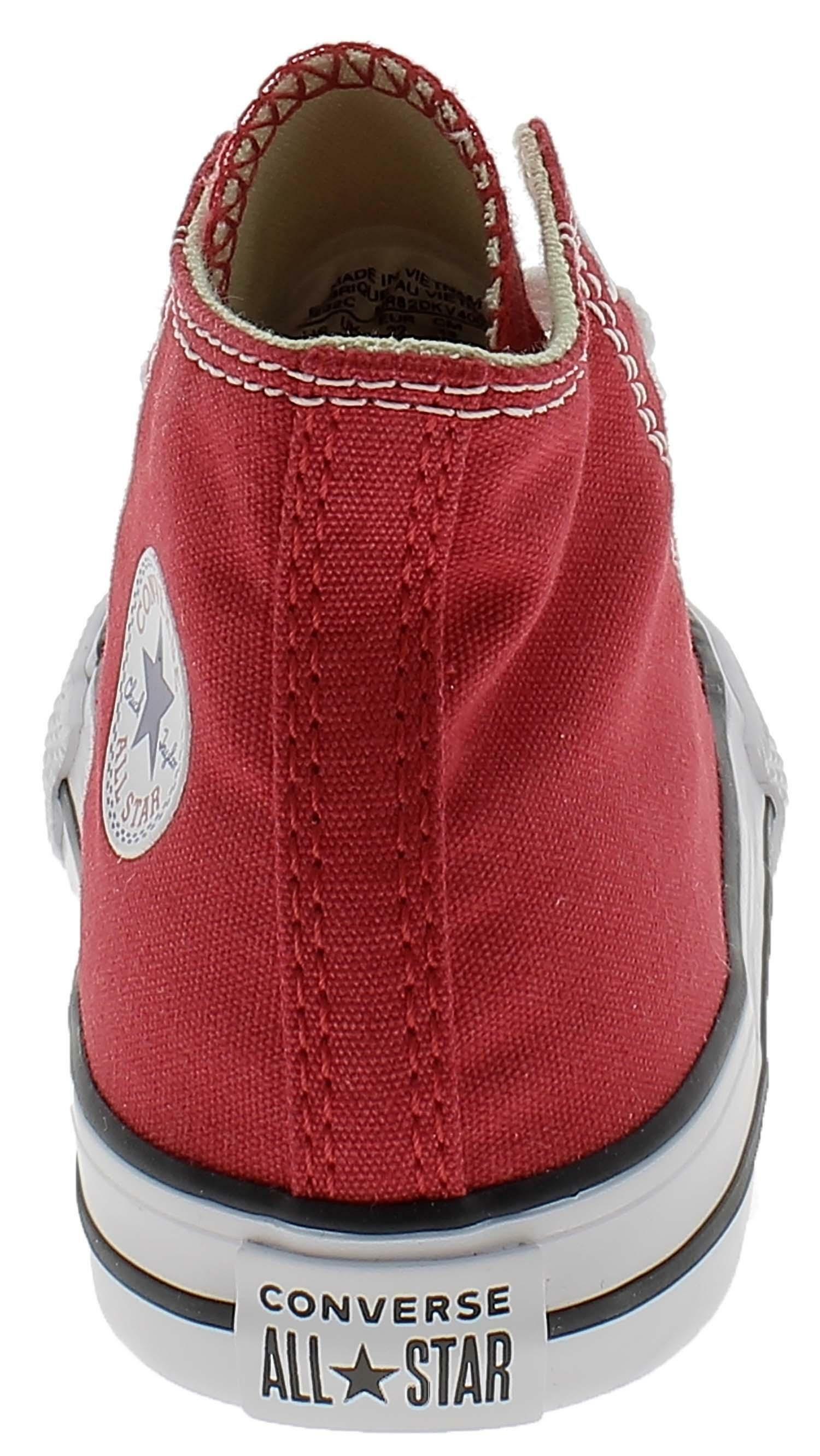 converse converse all star scarpe sportive bambino rosse tela lacci 7j232c