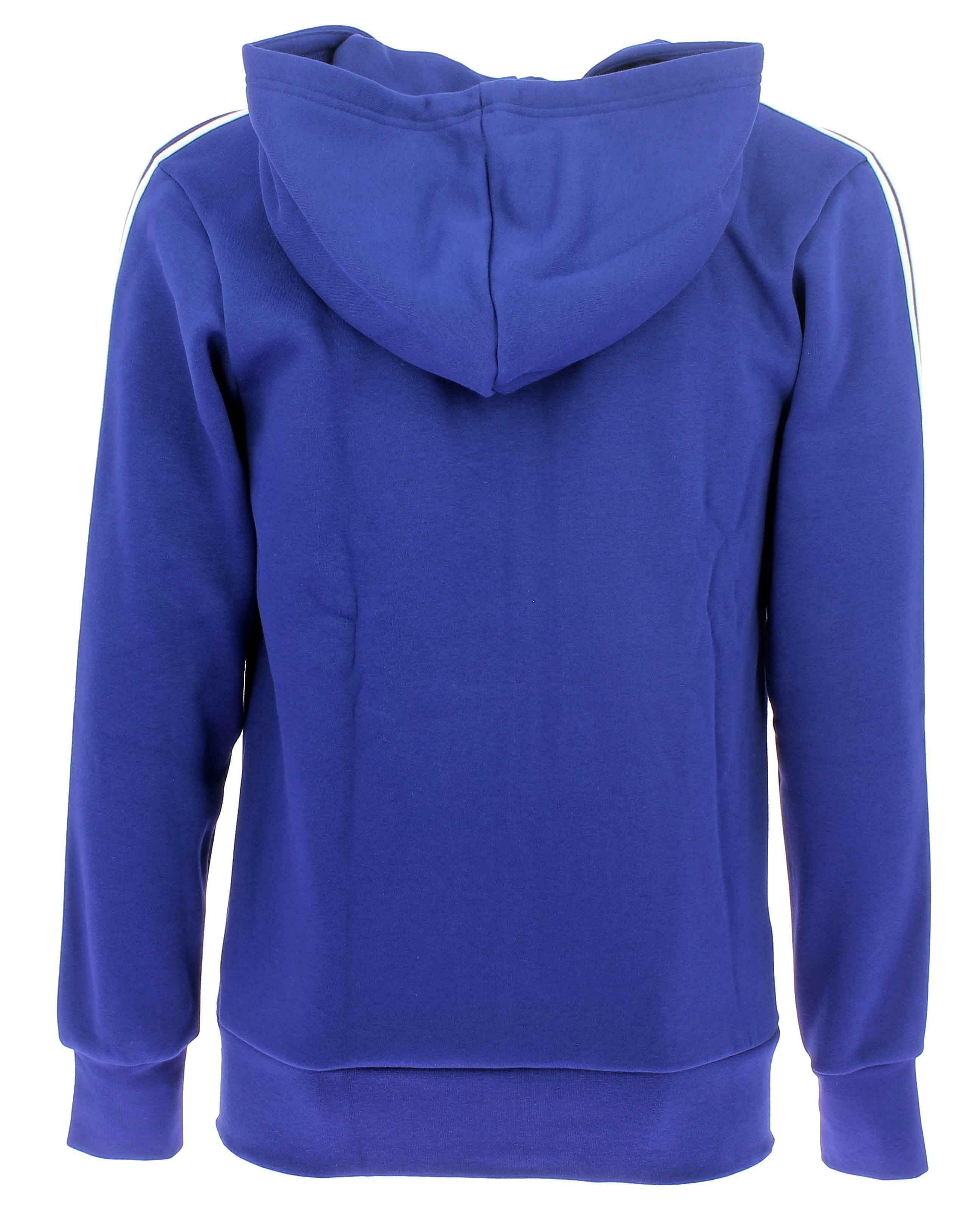 adidas adidas ess 3s fz b giacchetto uomo blu felpato cz7358