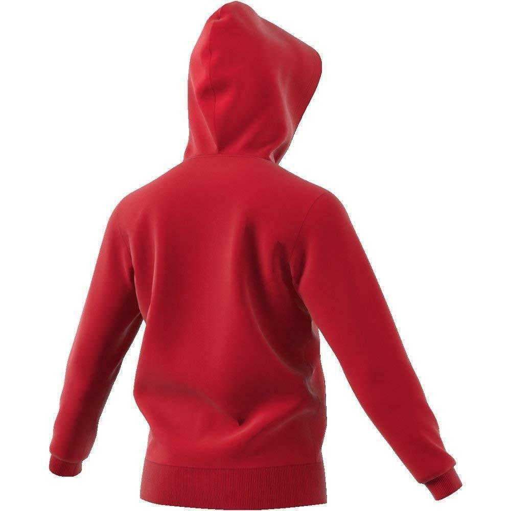 adidas adidas ess lin felpa zip rossa uomo cotone felpato cz9012