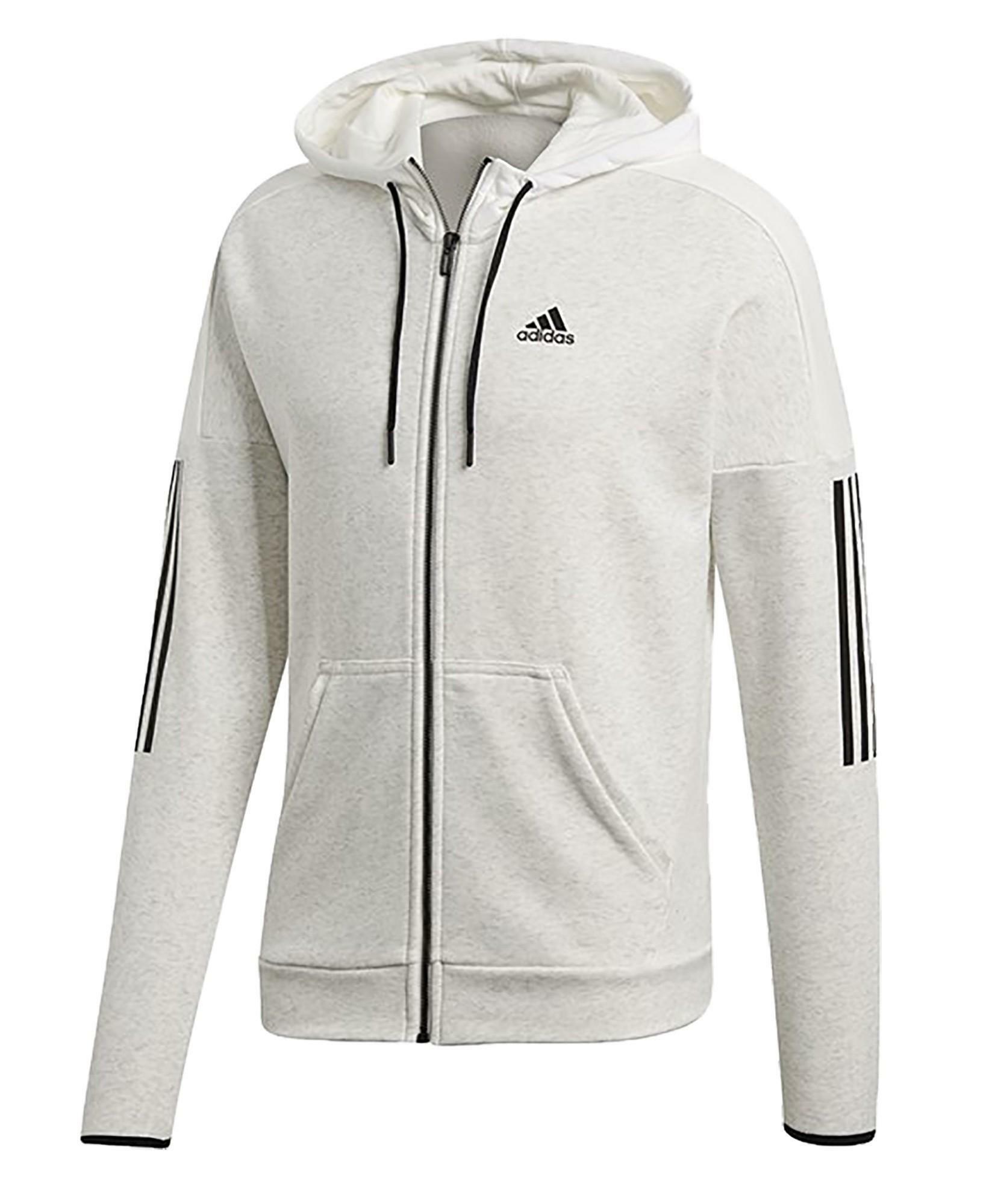adidas adidas m sid logo giacchetto uomo bianco melange dm4055