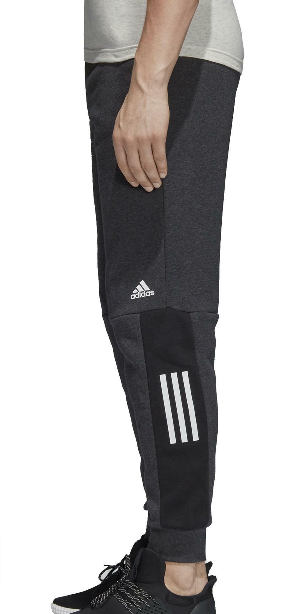 adidas adidas sid lgo pantaloni tuta uomo grigi cotone felpato dm4320