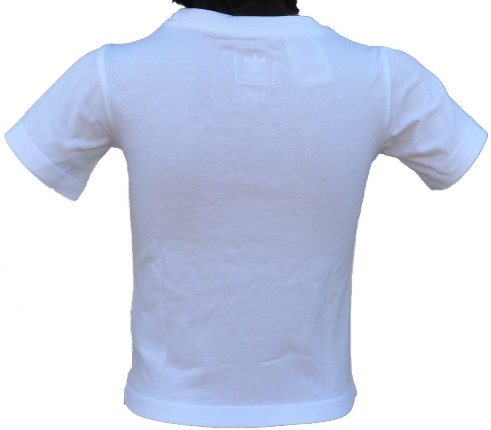 adidas adidas i trf tee t-shirt bambina bianca d96102