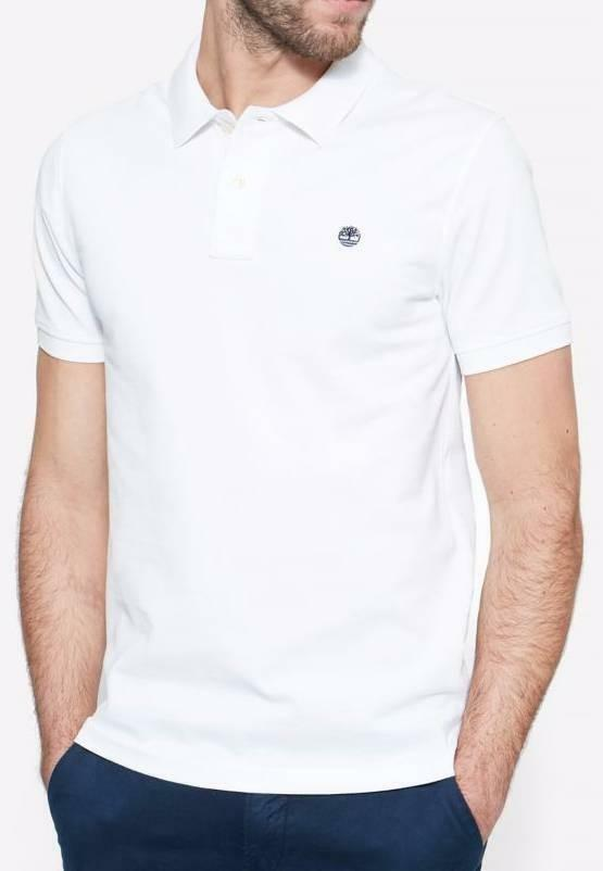 timberland timberland ss polo fit millers river uomo bianca slim fit