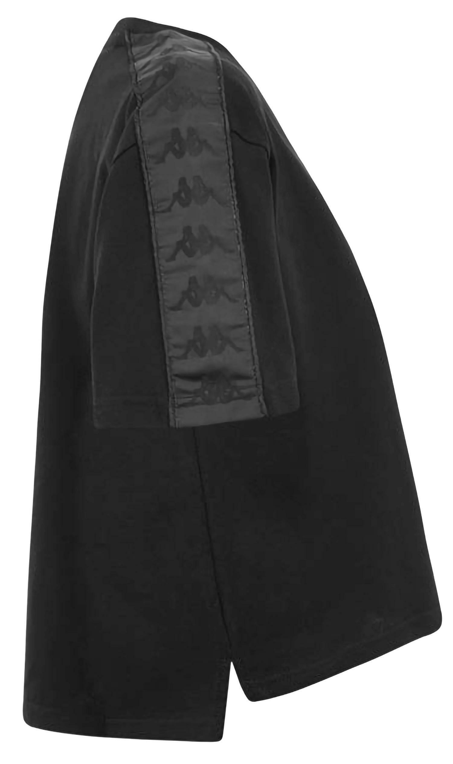 kappa kappa authentic anez t-shirt donna banda nera 3030ce0