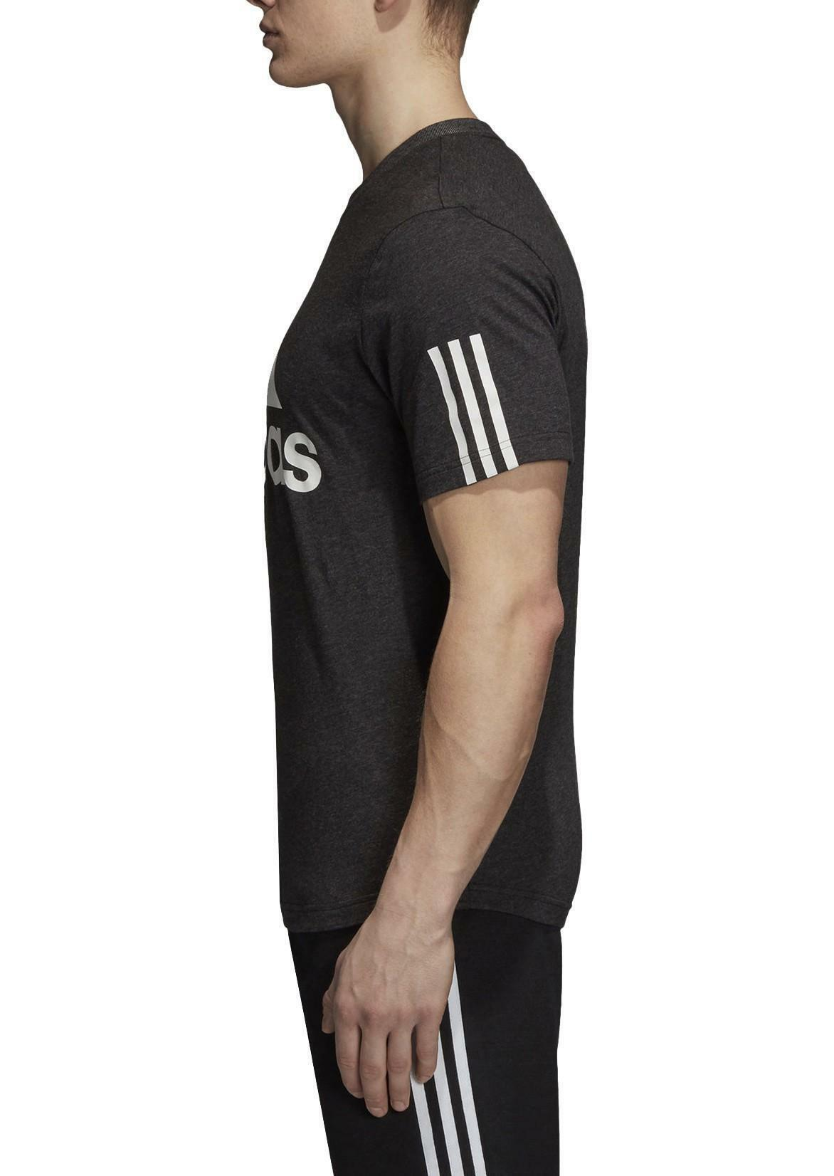 adidas adidas m sid logo tee t-shirt uomo grigia dm4061