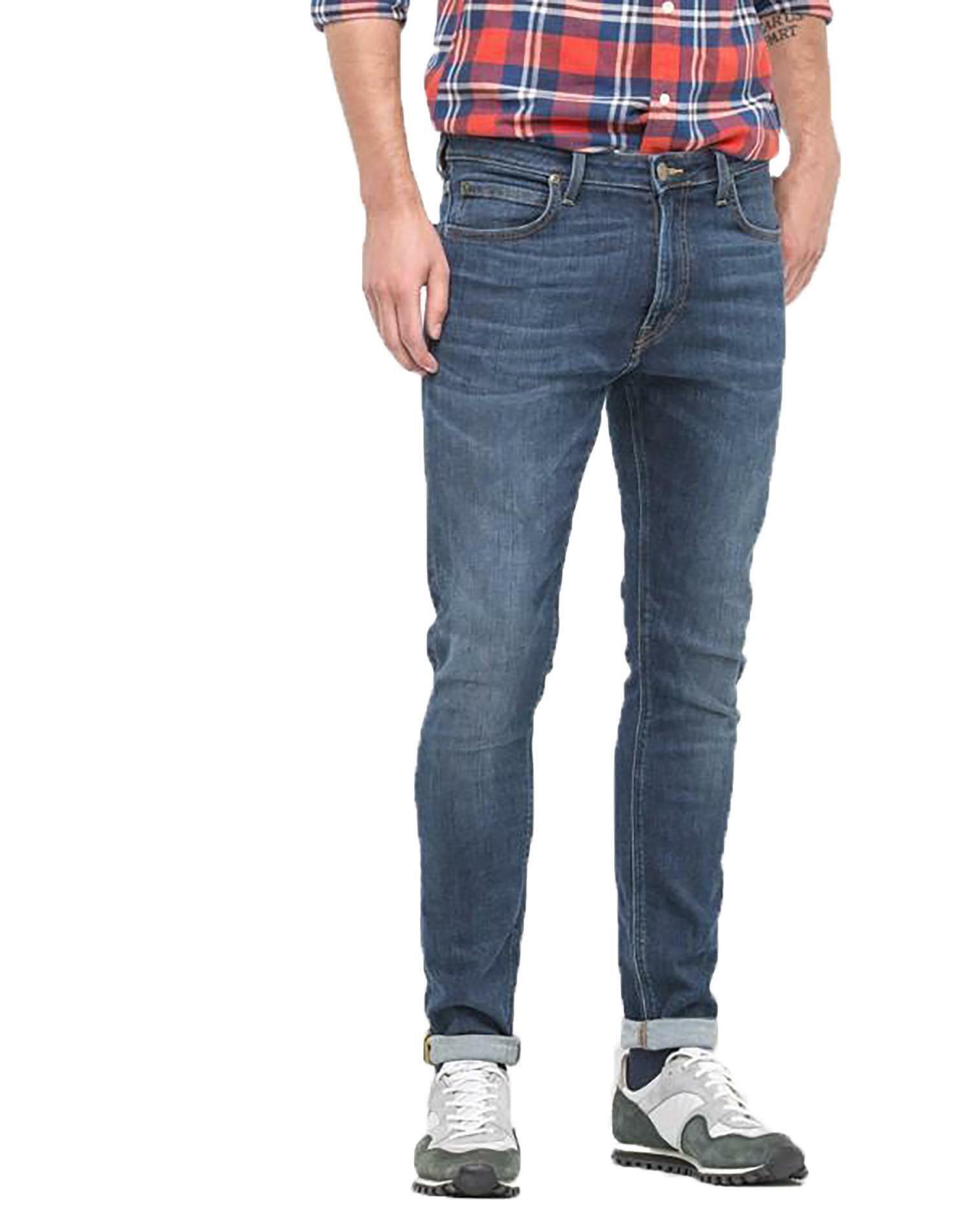 lee lee jeans uomo malone blue denim
