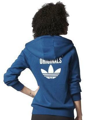 adidas originals adidas fz hoodie felpa donna blu