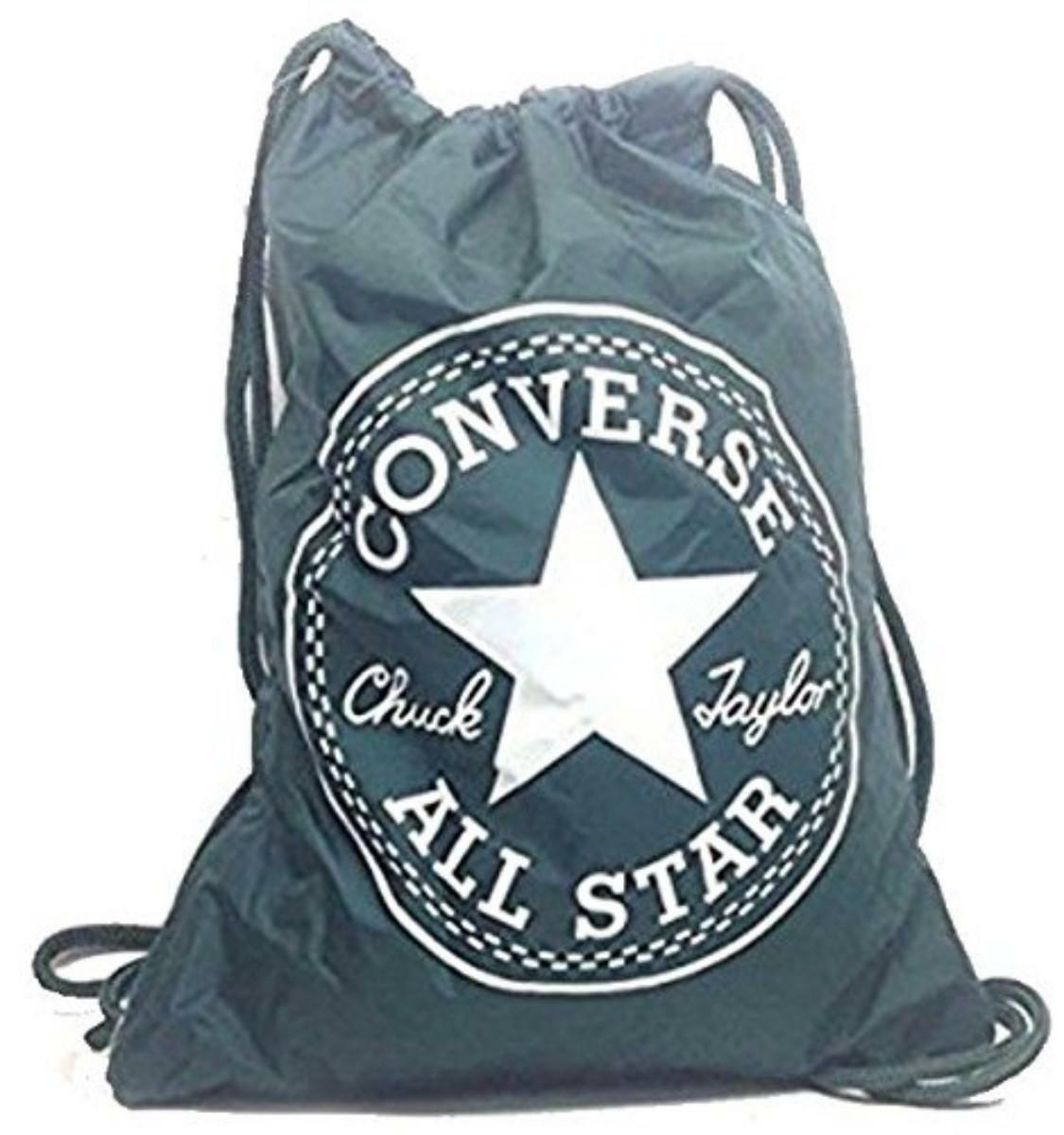 converse converse sacca nylon verde shoebag seasonal