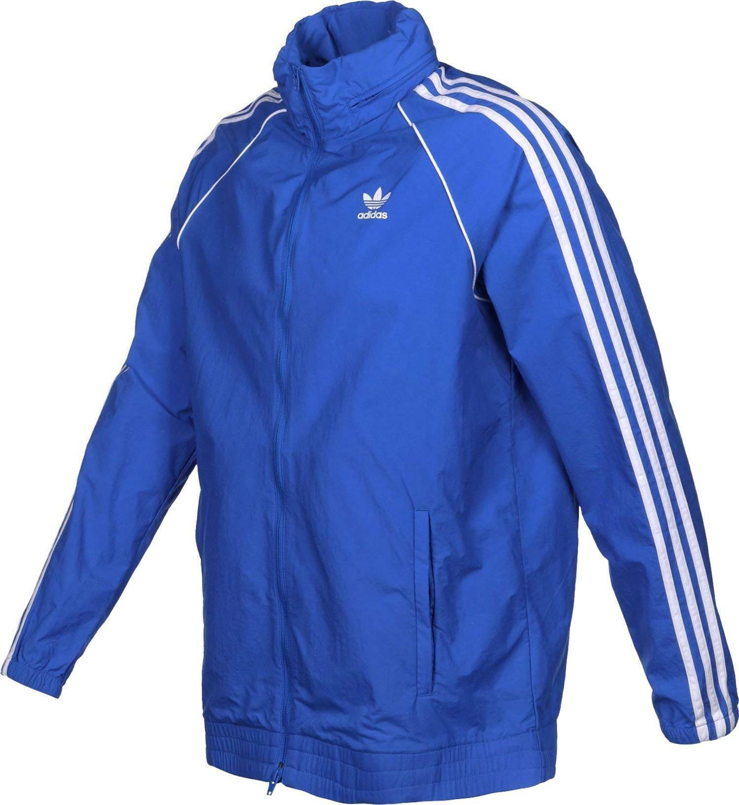 adidas originals adidas sst windbreaker giacca a vento uomo azzurra dh5835