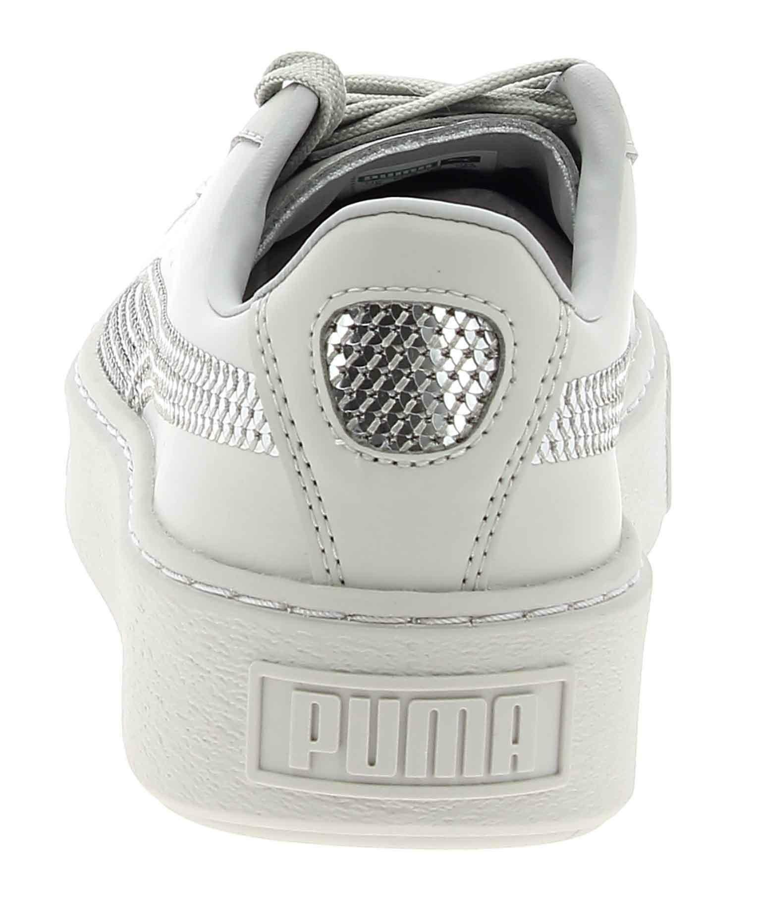 puma puma basket platform bling scarpe sportive grigie donna pailletes 36723702