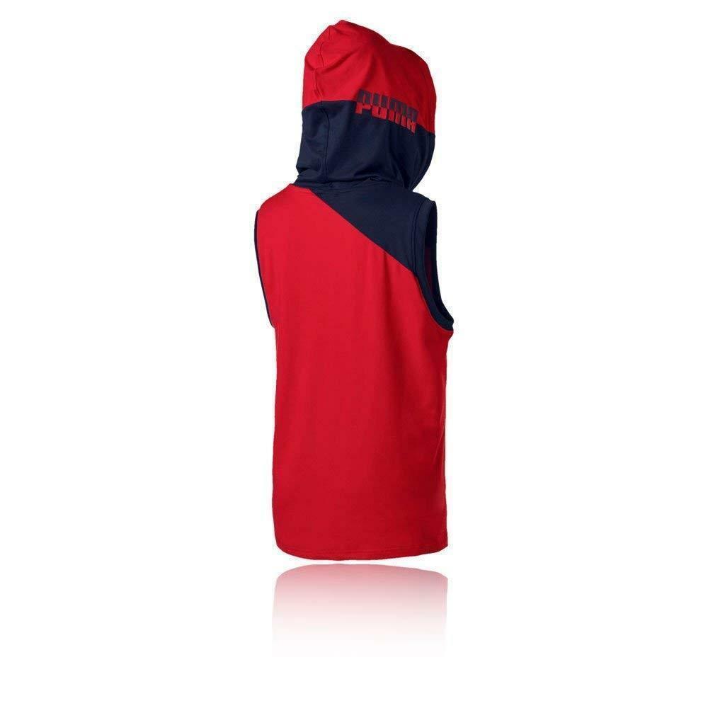 puma puma ace s/l maglia cappuccio smanicata donna rossa 516764