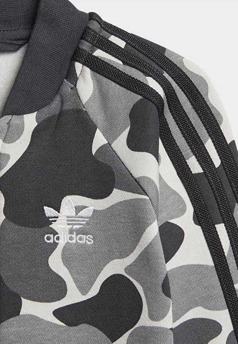 adidas originals adidas i c trefoil tuta felpata bambino grigia d96093