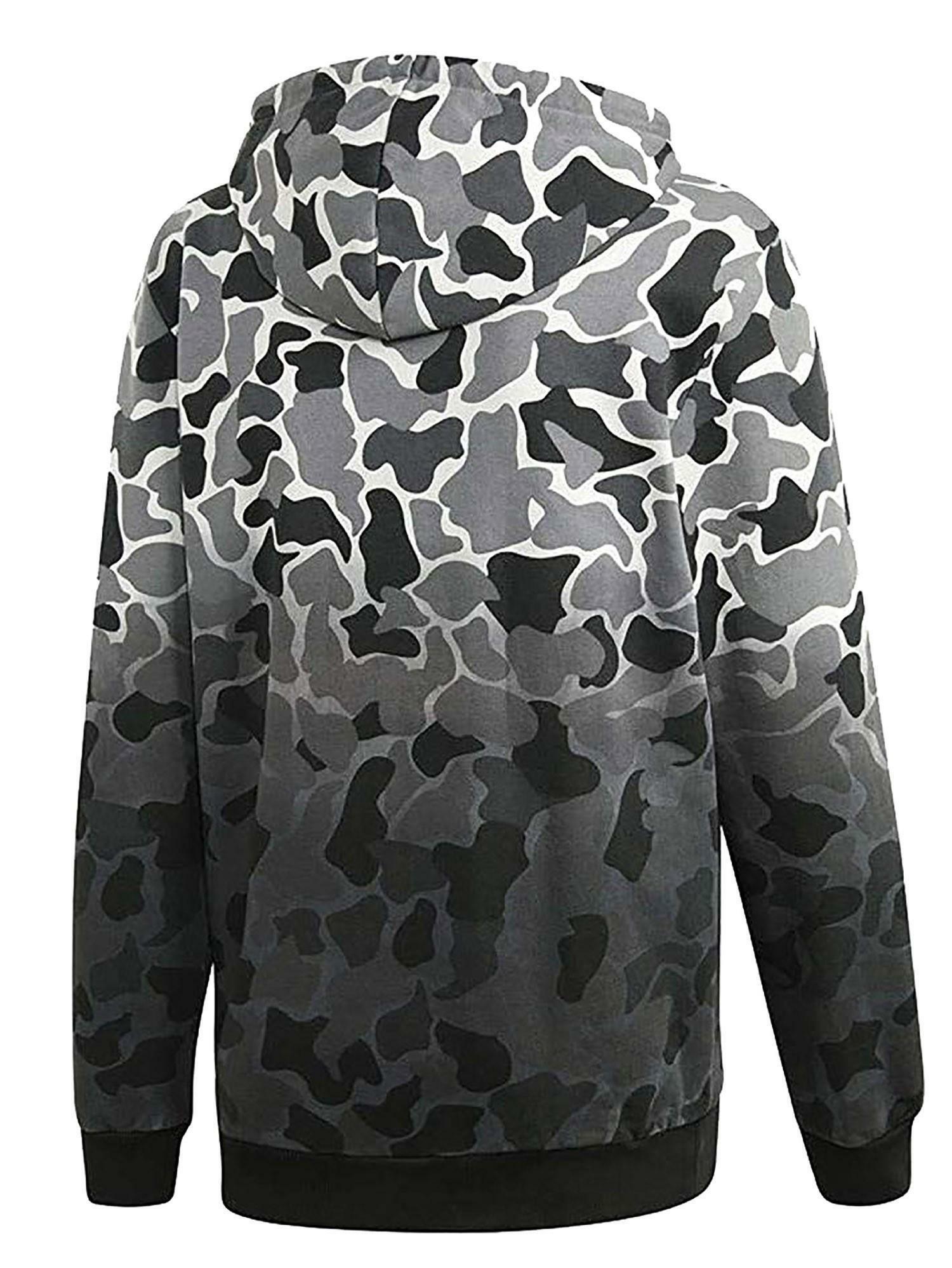 adidas adidas hoodie felpa uomo grigia camouflage dh4807