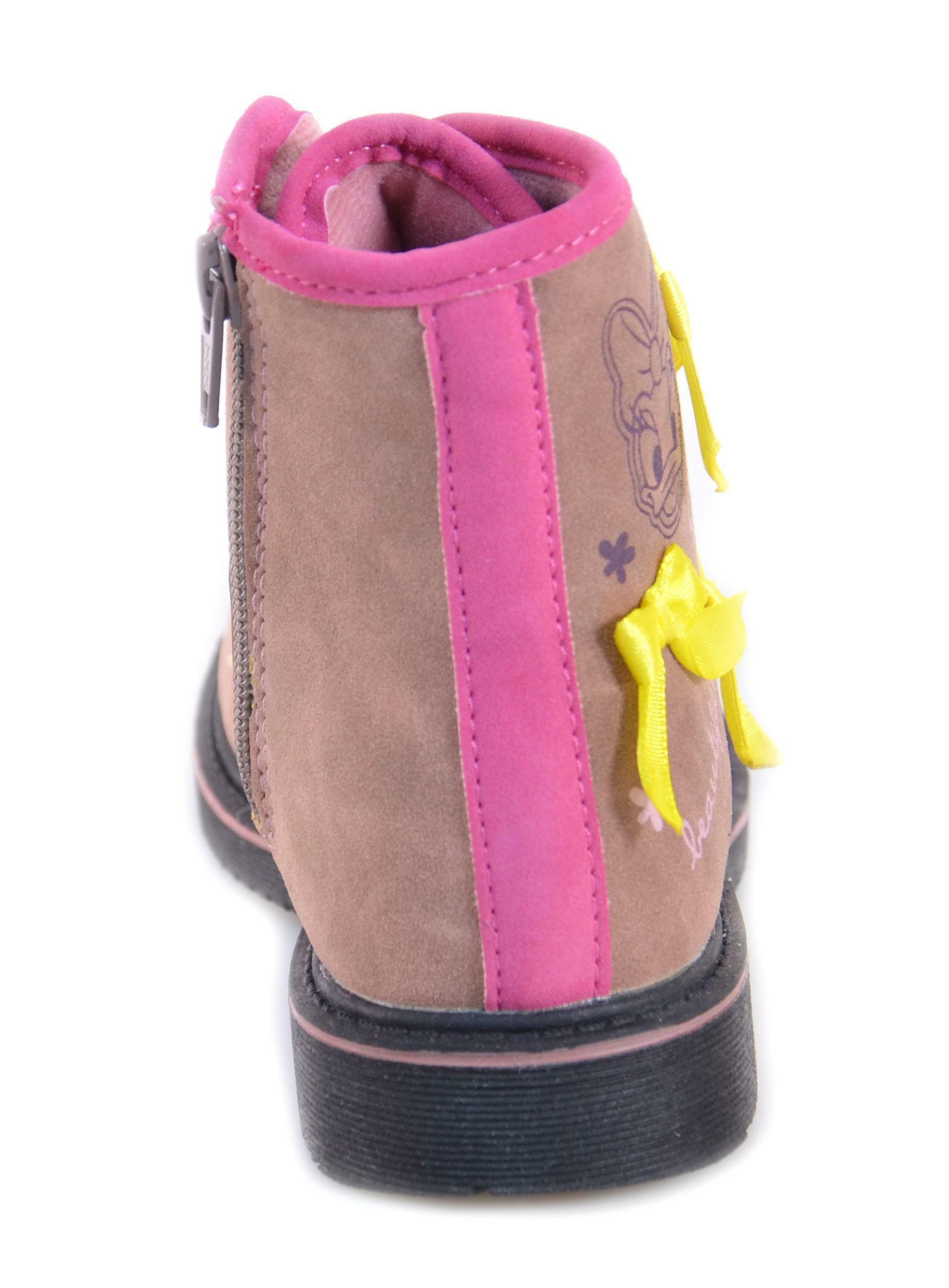 disney original marines scarponcino bambina rosa pelle lacci zip daib009