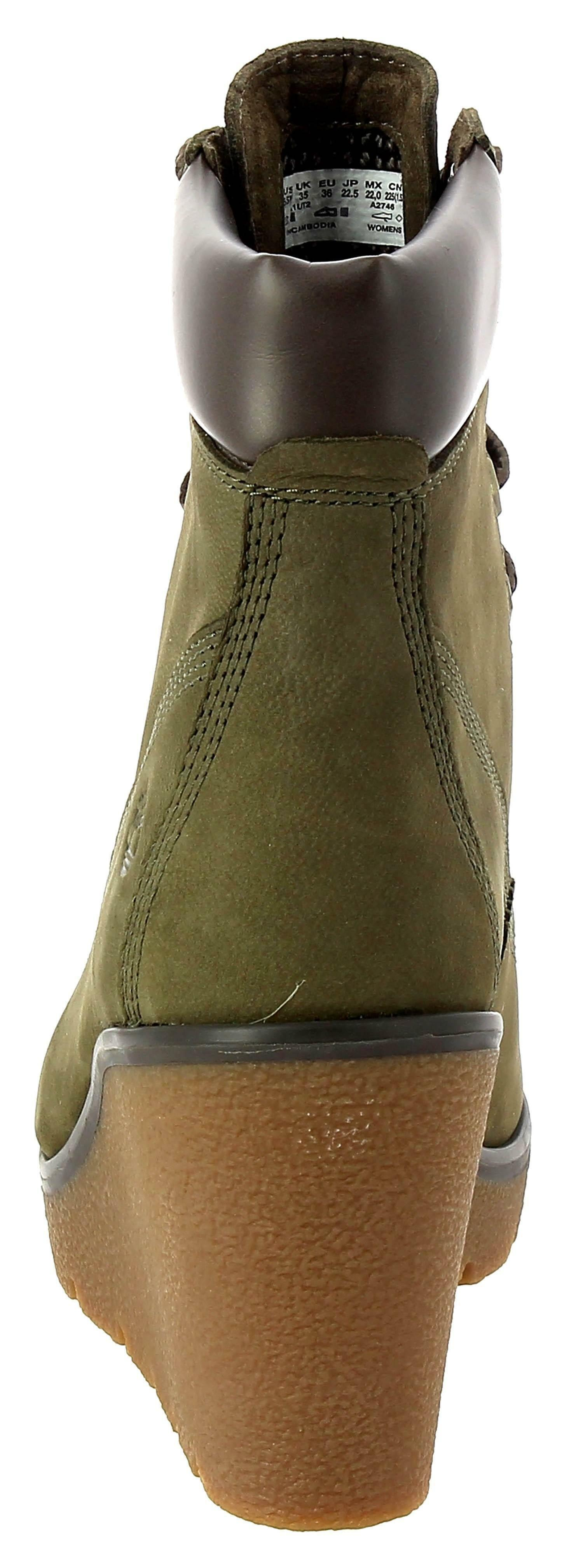 timberland timberland paris height scarpe donna zeppa verdi 0a1ut2