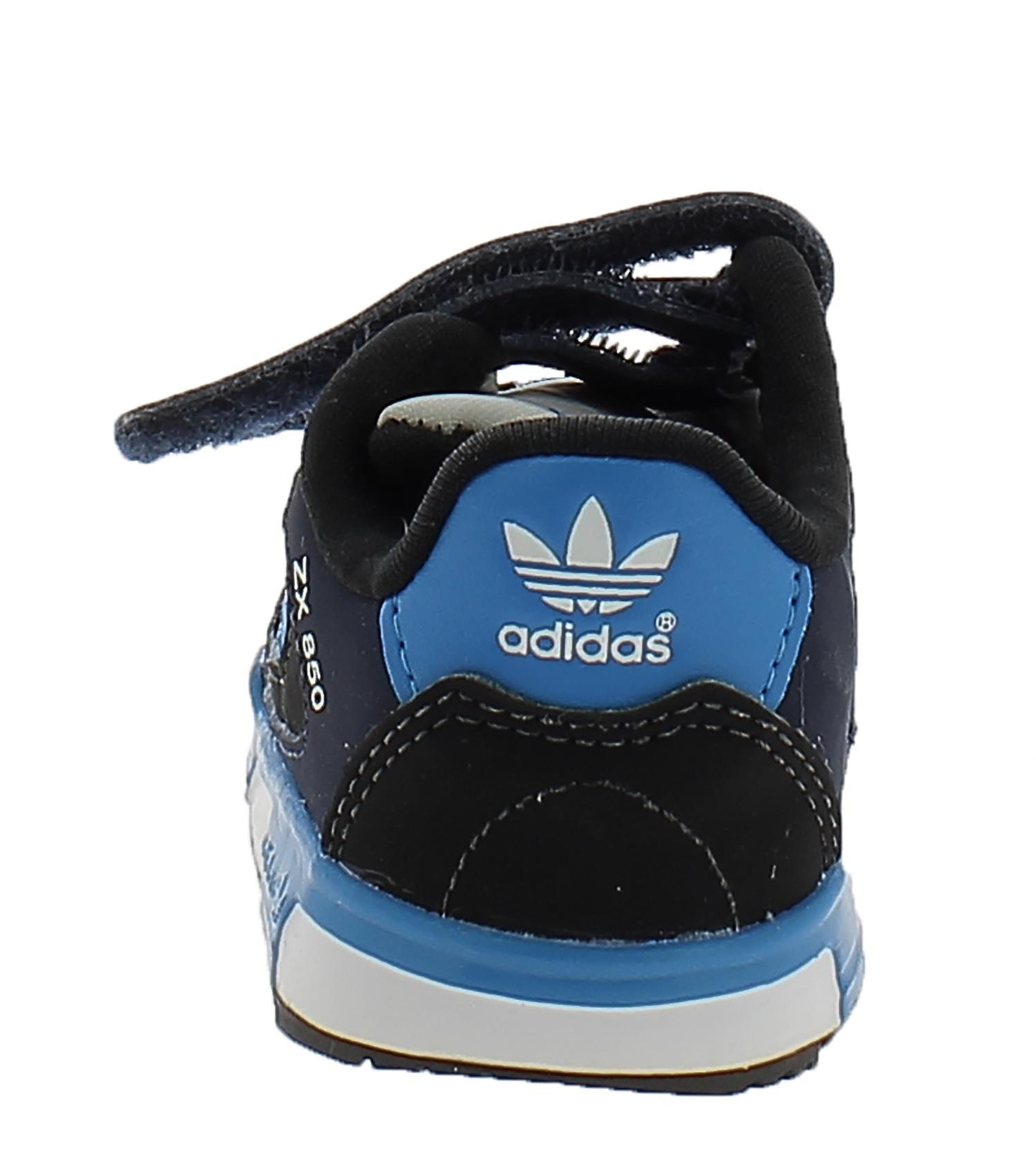 adidas adidas zx 850 cf i  scarpe bambino blu pelle tela strappi m19746