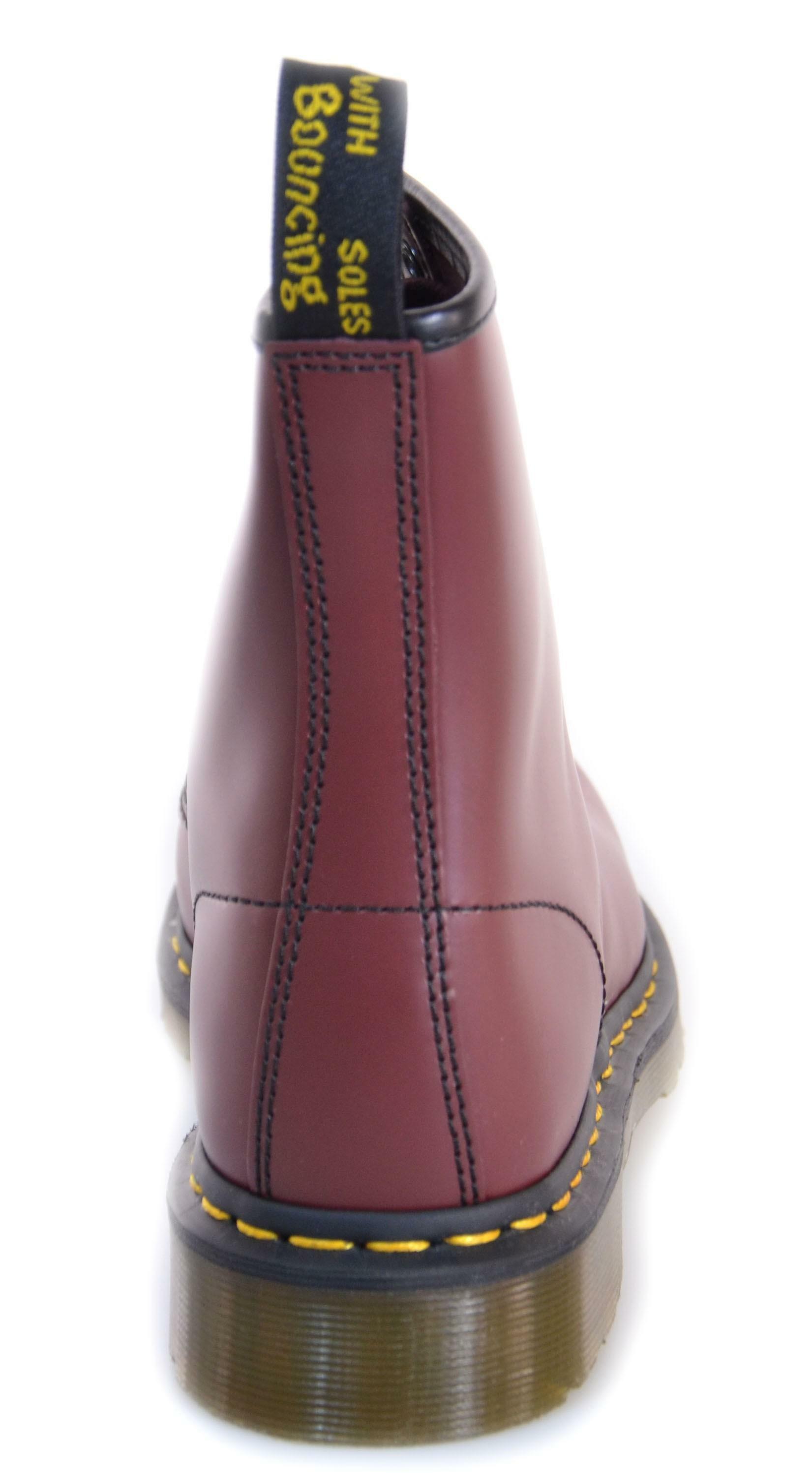 dr. martens dr. martens 1460 scarponcini rosso pelle 10072600