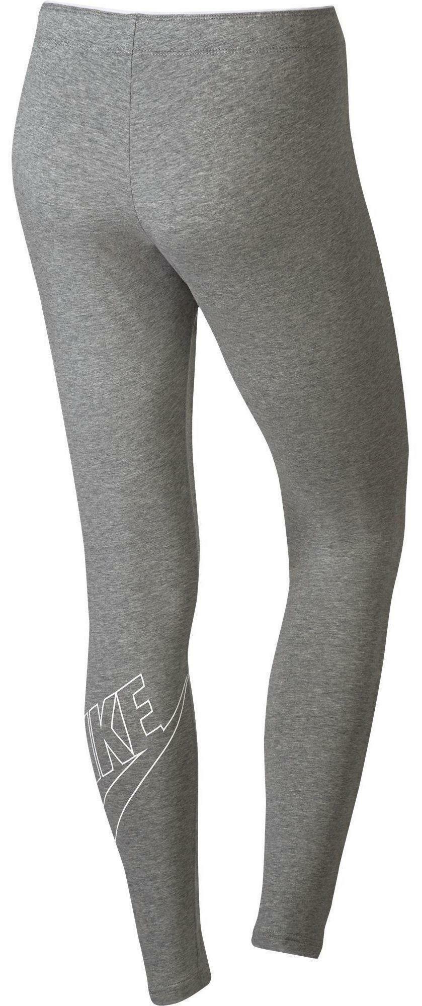 nike nike w nsw logo club futura leggins donna grigi