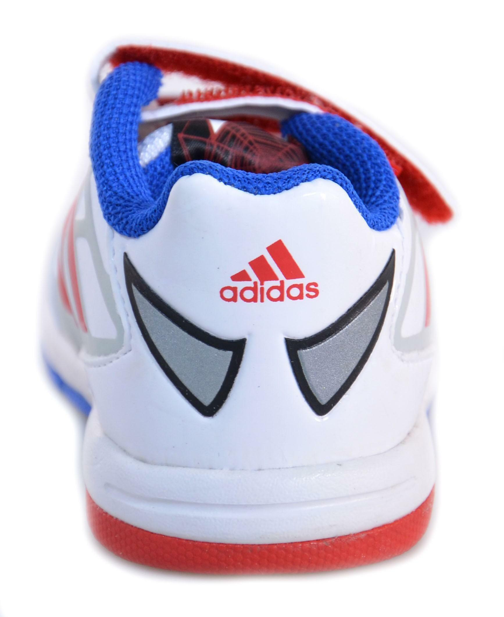 adidas disney spiderman cf i scarpe bambino bianche pelle strappi m25948