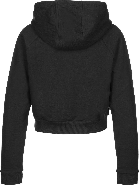 adidas adidas original crop hoodie felpa donna nera