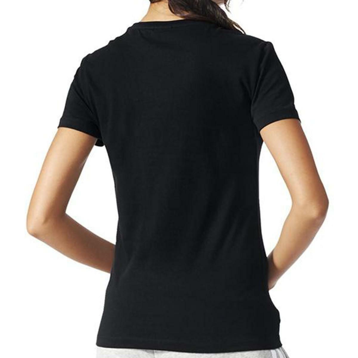 adidas trefoil vines t-shirt donna nera aj8915
