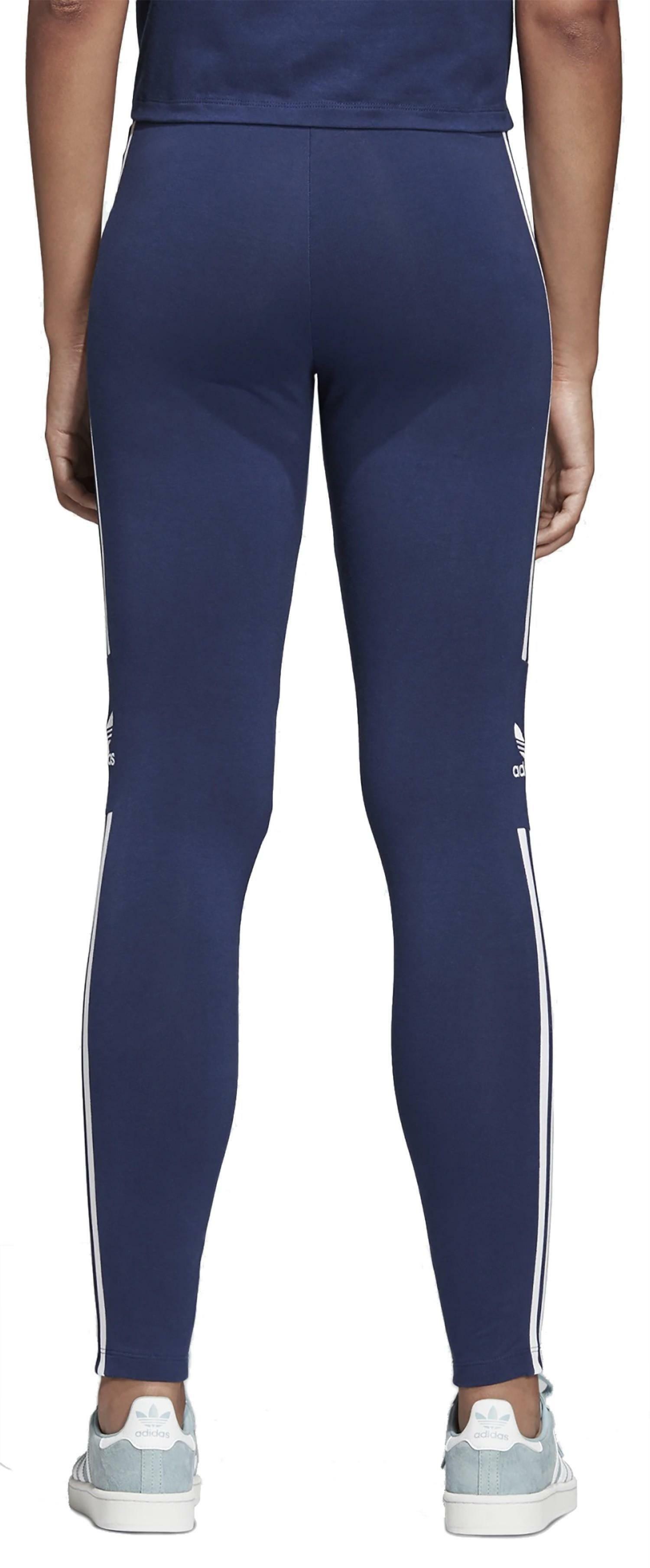 adidas trefoil tight leggings donna blu dv2634
