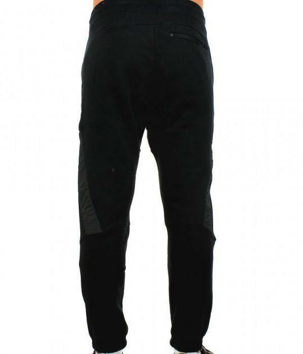 nike pantalone tuta uomo nera cotone 678530