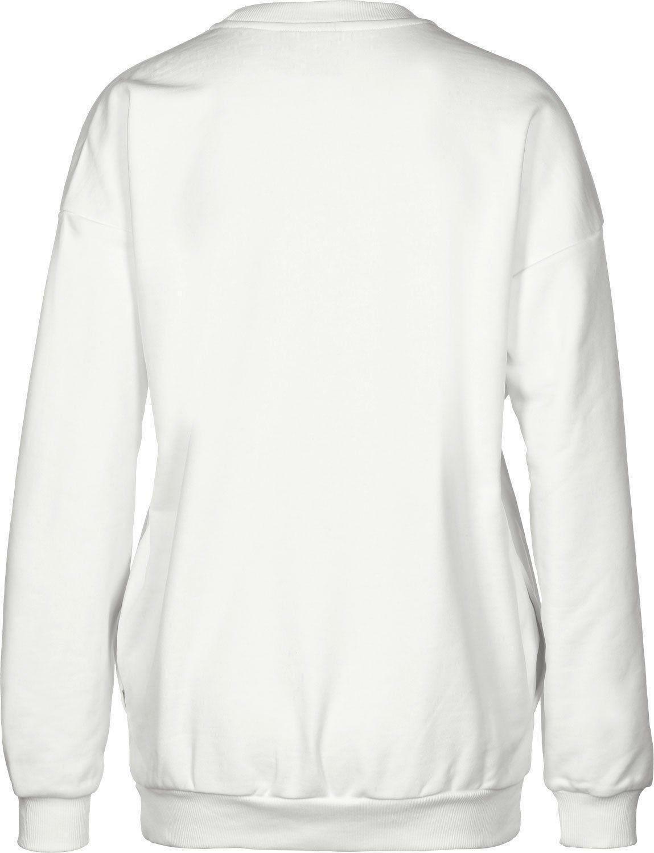 adidas adidas original trefoil sweat felpa donna bianca bp9498