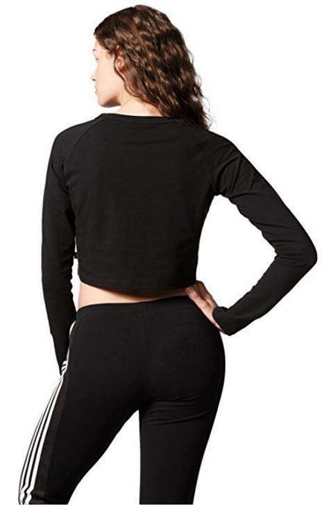 adidas crop maglia donna nera