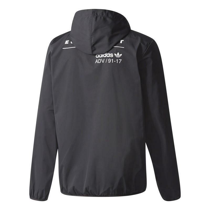 adidas adidas originals pdx windbreaker giacca sportiva uomo nera bs2793