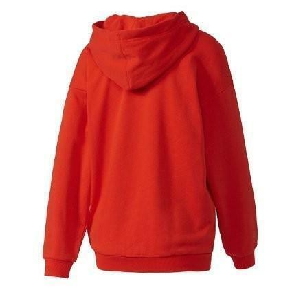 adidas trefoil hoodie felpa donna rossa