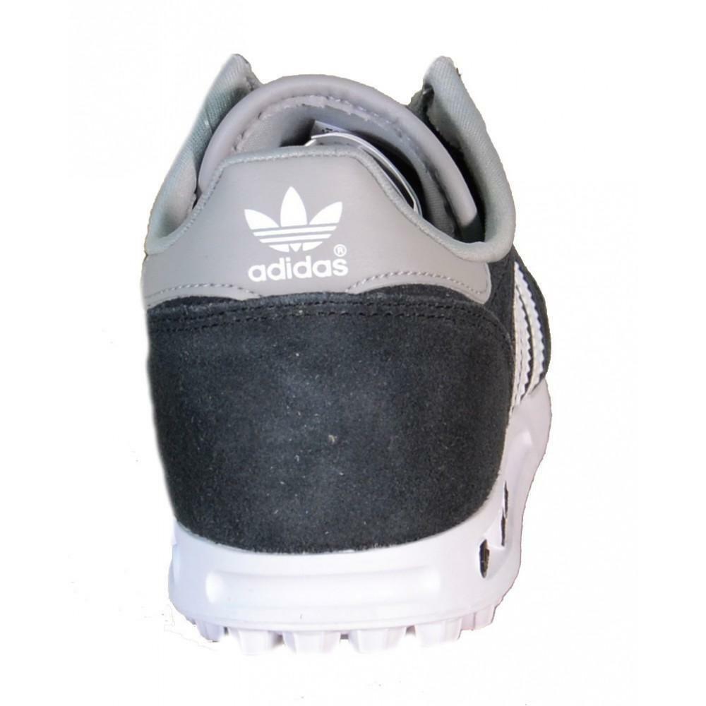 Details about ADIDAS LA Trainer K Black Leather Canvas Sports Shoes B25695